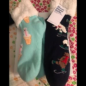 Bundle of 2 Sherpa slipper socks